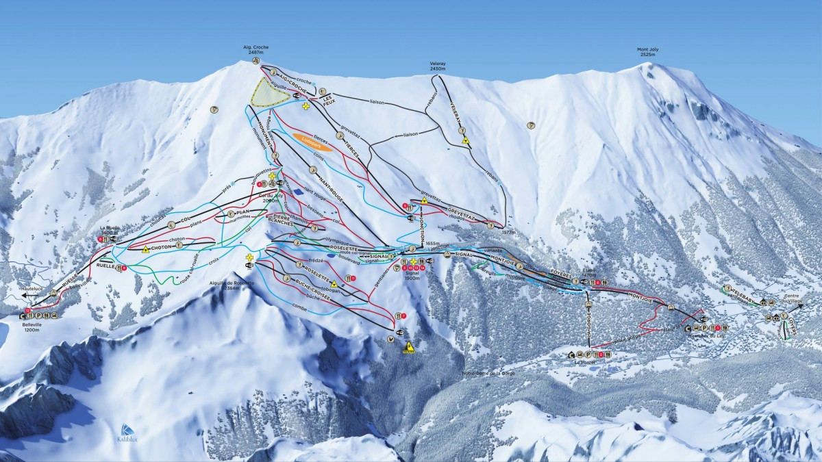 Les Contamines piste map
