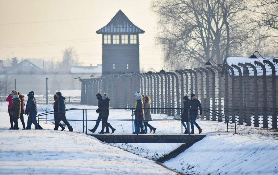 Auschwitz at winter