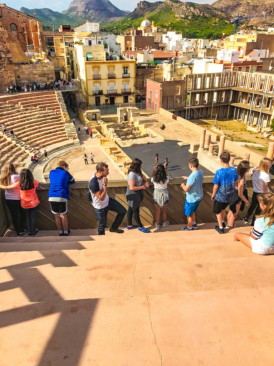 Cartagena roman theatre group shot